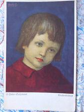 Knabenbildnis München Gulzemoos Gemälde Kunstwerk Postkarte Ansichtskarte 3007