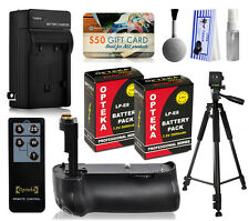 Multi Power Battery Grip + Tripod + 2 Battery for Canon Rebel T2i T3i T4i T5i