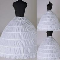 6Hoop Underskirt Ball Gown Long Skirts Petticoat Slips For Wedding Dress-H
