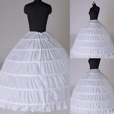 6Hoop Underskirt Ball Gown Long Skirts Petticoat Slips For Wedding Dress-H
