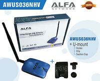 Alfa AWUS036NHV 802.11n Super High Power 1500mW WIRELESS-N USB Wi-Fi adapter