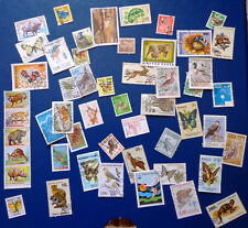 50 different used stamps about Animals