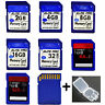 SD 128GB 64GB 32GB CLASS 4 Flash Memory Card SDHC for Canon Nikon Camera Laptop