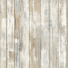 Wallpaper Distressed Wood Peel and Stick 20.5 Inch x 16.5 Ft Rmk9050Wp