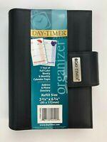 Day-Timer 44520 Black Fabric Striped Organizer Planner Binder + Inserts - NOS