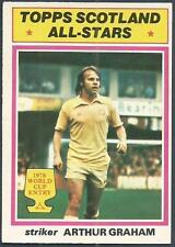 TOPPS 1978 SCOTTISH FOOTBALLERS-#122-SCOTLAND & LEEDS-ALL STARS-ARTHUR GRAHAM