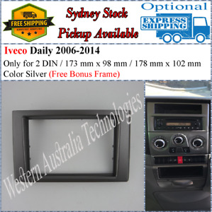 Fascia facia Fits Iveco Daily 2006-2014 Double Two 2 DIN Dash Kit-