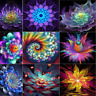 DIY 5D Diamond Painting Fantasy Flower Embroidery Cross Crafts Stitch Home Decor