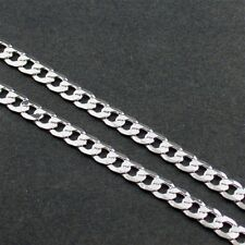 """20"""" SILVER EP CUBAN LINK NECKLACE CHAIN"""