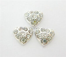 10pcs crystal heart Floating Charms Fits For Glass Living Memory Locket FC052