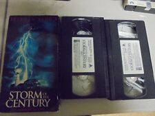 """USED VHS Movie  """"Storm Of The Century"""" Two VHS Tapes Box Set  210"""