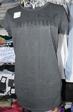 PUMA WOMENS SIZE 10  T SHIRT DRYCELL COLOR CHARCOAL ACTIVE GYM  WEAR