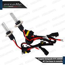 COPPIA LAMPADE XENO XENON AC H7C H7 CORTE 6000k 35W 12V BASE IN METALLO