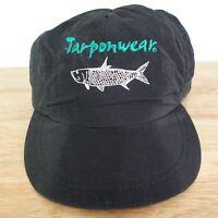 VTG TARPONWEAR FISH LOGO BLACK ADJUSTABLE USA MADE SNAPBACK BASEBALL HAT