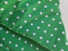Pottery Barn Teen Duvet, Twin Green White Polka Dot Cotton