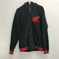 Honda Racing One Industries Boris Zip Hoodie Jacket Wing Logo Rare Button Red S