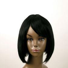 perruque afro femme 100% cheveux naturel mi longue noir ref Jackie 02 1B