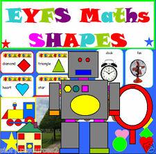 MATHS SHAPES EYFS Teaching resources & planning NEW TERM PRESCHOOL RESOURCE CD