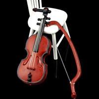 12.01 Puppenhaus Miniatur Musik Instrument Violine Modell Raum Mini Instrum P1A5
