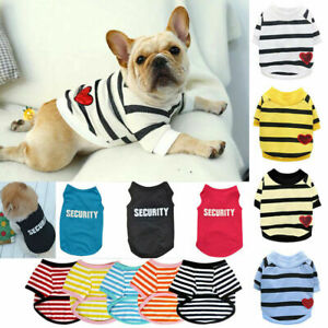 Pet Dog Clothes T-shirt Puppy Cat Sweater Coat French bulldog Chihuahua Apparel^