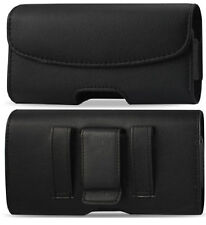 Leather Belt Clip Holster with magnet Closing Flap for iPhone & Samsung Galaxy