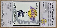 Jerry West signed autographed 1994 Great Western Forum ticket - VERY unique auto