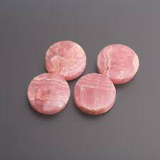 RHODOCHROSITE FLAT ROUND 15 mm Pink-White/Box