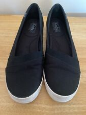 Keds Women's Slip On Ortholite Canvas Tennis Shoes BLACK Size 9