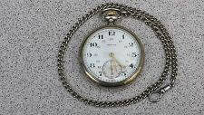 ANTIQUE ZENITH  MECHANICAL MEN'S POCKET WATCH / GRAND PRIX PARIS 1900 with CHAIN