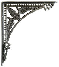 "Pair Cast Iron Fern Shelf Brackets – antique wall bracket 12""(29cm) x 10""(24cm)"