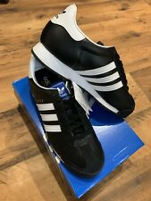 Adidas Samoa UK 8 EU 42 Negro/Blanco Cuero Marrón OG Originals isla