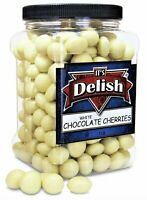 Gourmet White Chocolate Covered Cherries by It's Delish, 3 lbs Jumbo Reusable...