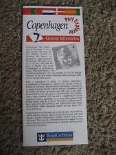Copenhagen Denmark, Port Explorer - General Info / Map, Royal Caribbean, 1994