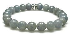 BRACELET - BLUE AVENTURINE 8mm Round Crystal Bead w/Description - Healing Stone