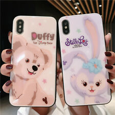 Cute Disney cartoon Duffy Tempered glass case cover For iPhone 11 Pro Max X 7 8+