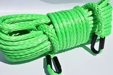 Green 1/2inch*150ft Winch Rope Extension,Synthetic Winch Cable for Offroad Parts