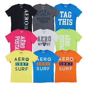 Aeropostale Mens T-Shirt Graphic Short Sleeve Aero Tee Shirt Xs Xl Xxl New