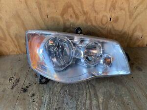 2008-2016 Chrysler Town & Country Headlight Right Passenger Halogen OEM Chrome