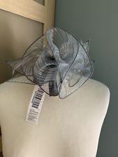 Debenhams Grey Fascinator Metallic Organza Feathers Wedding Races Occasion