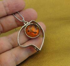 Hadar Designers Handmade Amber 925 Sterling Silver Heart Pendant (y 420) SALE