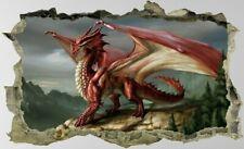Dragon,3D,Sticker,Fantasy,Wall Art,Bedroom,Enchanted,Decal,Mural