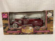 1936 Dodge Convertible Collectors Bank Liberty Classic Limited Edition Metal Car