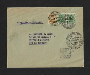 URUGUAY TO BRAZIL CONDOR -PAA AIR MAIL COVER 1934