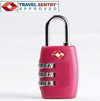 Jasit 3-Dial Combination TSA Accepted Luggage Suitcase Travel Lock Padlock -PINK