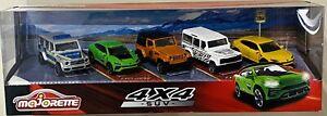 Majorette 4x4 SUV Gift pack 5 Cars Box Set Jeep Lamborghini Land Rover Mercedes