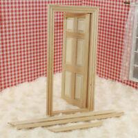 1/12 Puppenhaus Miniatur Möbel Holz Tür 6-Panel Innentür Y3B1 Puppenhaus DI C5U8