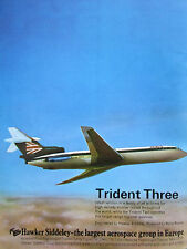 3/1970 PUB HAWKER SIDDELEY TRIDENT AIRLINER BEA AIRLINES ORIGINAL AD