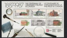 Canada Centenary of Organised Philately in Canada Mini Sheet Capex 87 1987