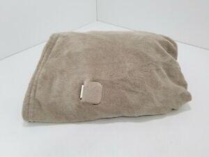 Biddeford Electric Throw Fleece Blanket Solid Gray 60x50 Throw Only L209