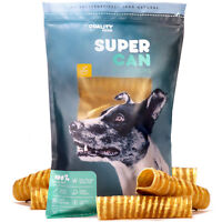 """SuperCan 6"""" Beef Trachea Dog Chews 10 Pack, Natural MooTube Beef Treats for Dogs"""